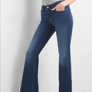 GAP Jeans Long & Lean Mid-Rise Flare